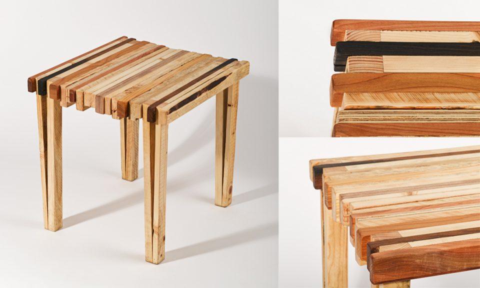 designhocker kurt aus restholz unionviertel. Black Bedroom Furniture Sets. Home Design Ideas